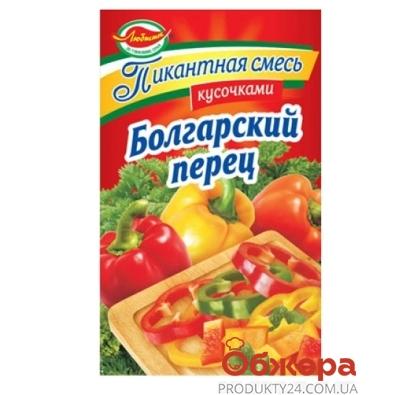 Приправа Смесь пряностей кусочками Болгарский перец 40 г – ИМ «Обжора»