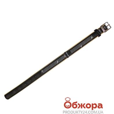 Ошейник Коллар (Collar)  brilliance со стразами маленькими (ширина 15мм, длина 27-36см) черный 38741 – ИМ «Обжора»