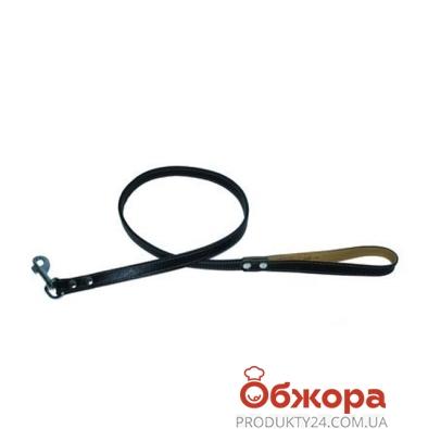 Поводок Коллар (Collar)  brilliance двойной  без украшений (ширина 13мм, длина 122см)черный 38851 – ИМ «Обжора»
