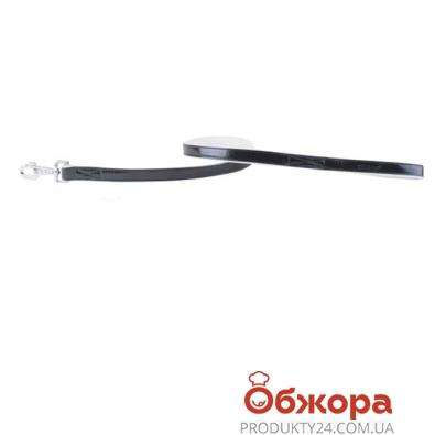 Поводок Коллар (Collar)  brilliance без украшений (ширина 13мм, длина 122см) чёрно-белый 3121 – ИМ «Обжора»