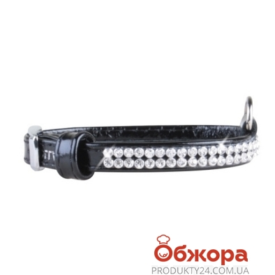 Ошейник Коллар (Collar)  brilliance с украшением полотно стразы (ширина 9мм, длина 18-21см) чёрный 3234 – ИМ «Обжора»