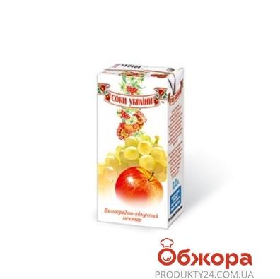 Сок Соки Украины Виноград-Яблоко 0,2 л – ИМ «Обжора»