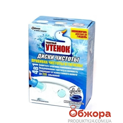Средство для унитаза  Туалетный Утенок Диск чистоты Морской 6шт. – ИМ «Обжора»