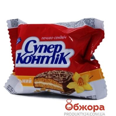 Печенье Конти (Konti) супер-контик ваниль в мол. глаз. 50 г – ИМ «Обжора»