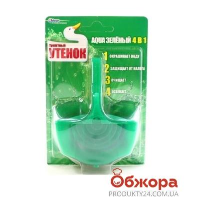 Средство для унитаза Туалетный утенок AQUA подвесн. 4в1 зелёный 40г. – ИМ «Обжора»