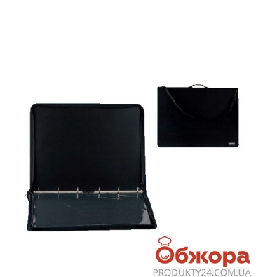 Папка плаcтиковая, 3 кольца+карман 530А – ИМ «Обжора»