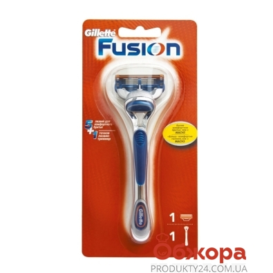 Станок для бритья Джилет (Gillette) FUSION  + 1 картр. – ИМ «Обжора»