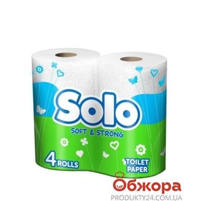 Туалетная бумага Соло 4 шт. – ИМ «Обжора»