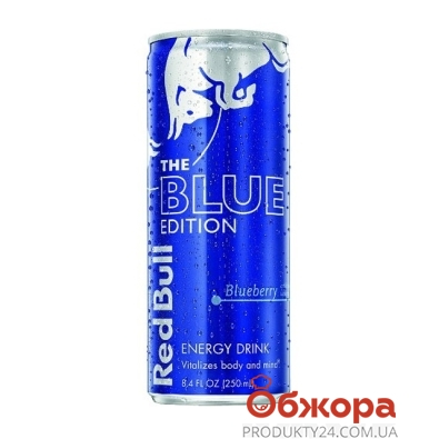 Напиток энергетический Ред Бул (Red Bull) Blue Edition 0,25 л – ИМ «Обжора»