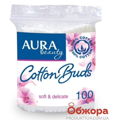 Ватные палочки AURA Beauty 100 шт – ИМ «Обжора»