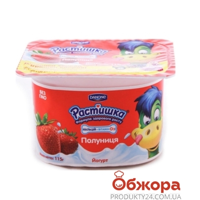 Йогурт Данон Растишка клубника 2% 4x115г – ИМ «Обжора»