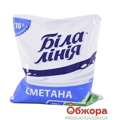Сметана Белая линия 400г 15% п/э (ГЦ) – ИМ «Обжора»