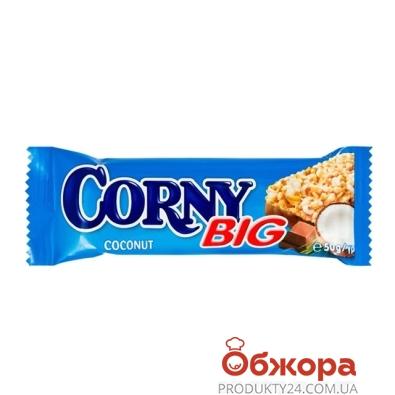 Батончик Корни (Corny) молочный шоколад кокос 50г – ИМ «Обжора»