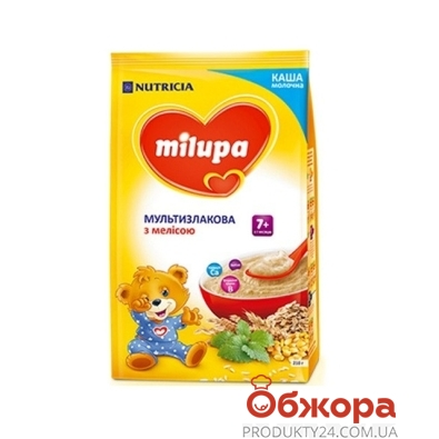 Каша Milupa молочная мультизлаковая с мелиссой 210г – ИМ «Обжора»