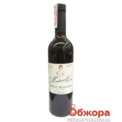 Вино Мадам Коко столовое красное п/сл 0,75 л – ИМ «Обжора»