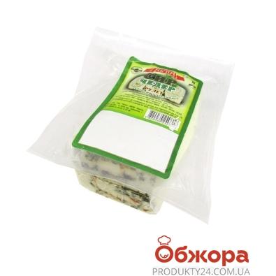 Cыр Килия Чеддер 45% рулет с зеленью фас. – ИМ «Обжора»