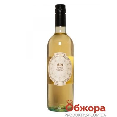Вино Аббация (Abbazia) Пино Гриджио IGT белое сухое 0,75 л – ИМ «Обжора»