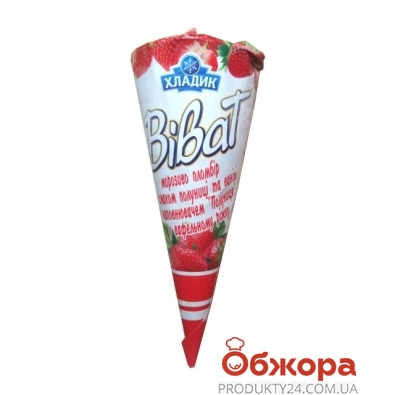 Мороженое Хладик рожок Виват 80г клубника – ИМ «Обжора»