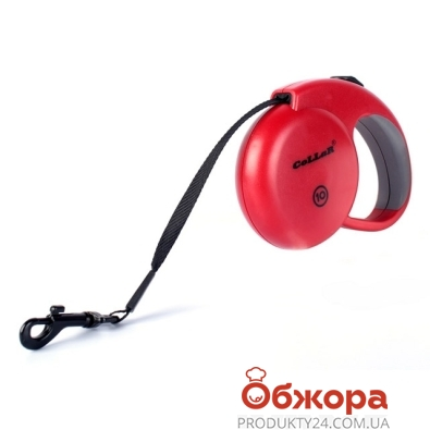 Рулетка Коллар (Collar) control 20кг,5м(светоотраж.,лента,трос) красная – ИМ «Обжора»