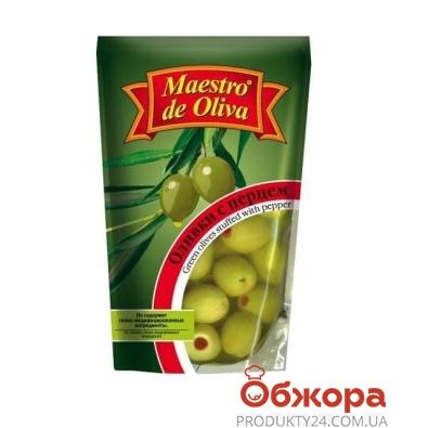 Оливки Маэстро 170г перец пет – ИМ «Обжора»