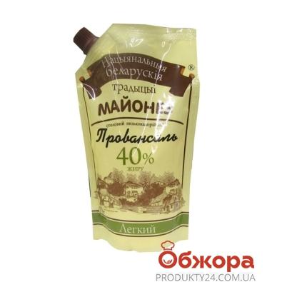 Майонез Беларусские традиции 380г лёгкий 40% ф/п – ИМ «Обжора»