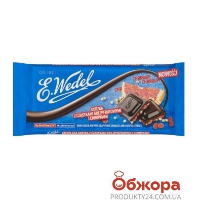 Шоколад Ведель (Wedel) черный грейпфрут печенье печенье 90г – ИМ «Обжора»