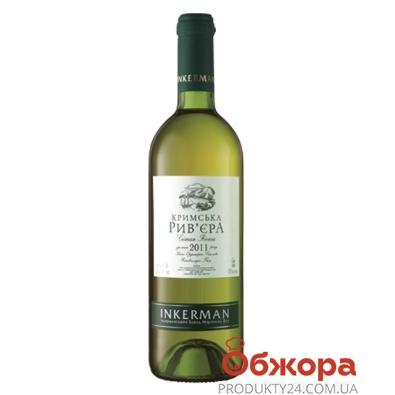 Вино Инкерман (INKERMAN) Крымская Ривьера белое п/сл 0,75 л – ИМ «Обжора»