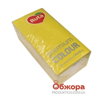 Салфетки Рута  Premium Color желт.30шт – ИМ «Обжора»
