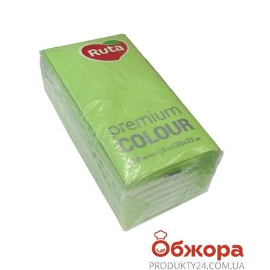 Салфетки Рута  Premium Color зелен.30шт. – ИМ «Обжора»