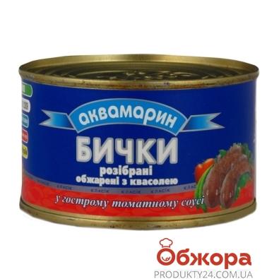 Бычки Аквамарин в т/с с фасолью, 230 г – ИМ «Обжора»