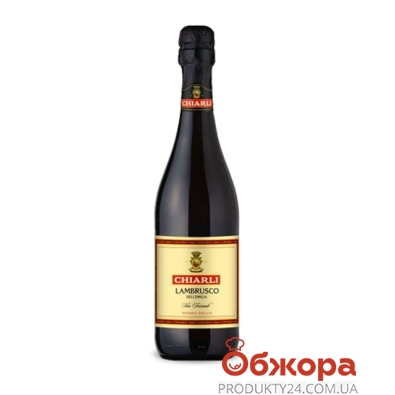 Вино игристое Кьярли 1860 (Chiarli 1860) Ламбруско Аббациа красное полусухое 0,75л. – ИМ «Обжора»