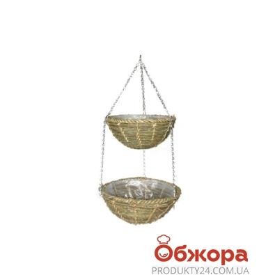 Кашпо плет. подвесное двухярусное D25+30см 21-2005 – ИМ «Обжора»