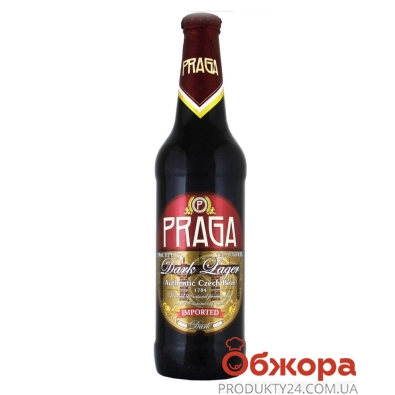 Пиво Прага 0,33л Темное – ИМ «Обжора»