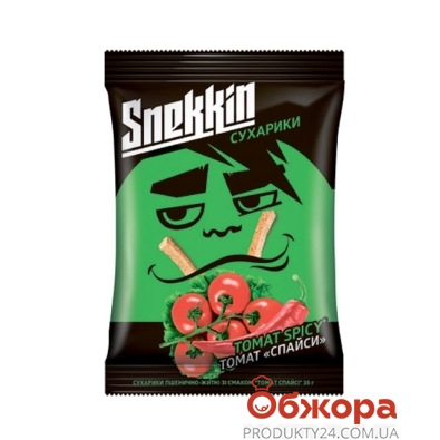 Сухарики Снекин 30г томат спайси – ИМ «Обжора»