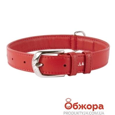 Ошейник Коллар (Collar)  GLAMOUR без украшений (ширина 25мм, длина 38-49см) красный 33043 – ИМ «Обжора»