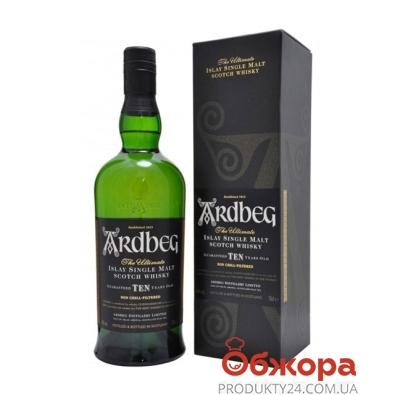 Виски Ардбег (Ardbeg) 10 лет 40% 0,7 л – ИМ «Обжора»