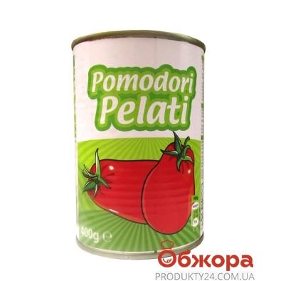 Томаты Галлетто Italiano Pilati целые не очищенные 400 г – ИМ «Обжора»