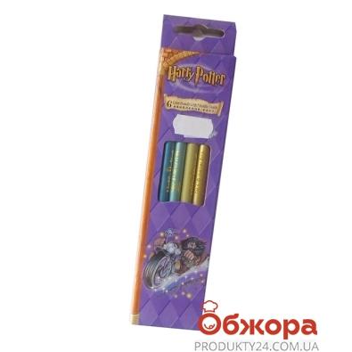 Карандаши цветные 6 Гарри Поттер (Harry Potter),  металлик длинные        2119-6 – ИМ «Обжора»