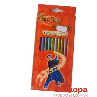 Карандаши цветные 12 Гарри Поттер (Harry Potter) длинный       2121-12 – ИМ «Обжора»