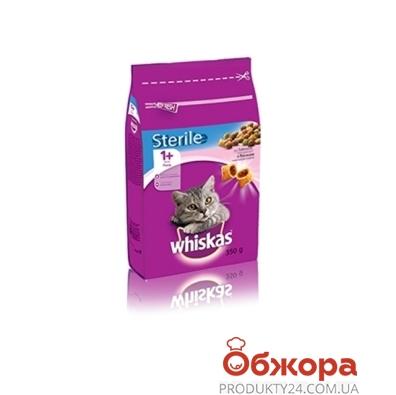 Корм Вискас (Whiskas) для стерилизованых котов  Лосось 350 г – ИМ «Обжора»
