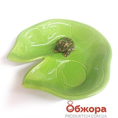 Подсвечник-тарелочка Лягушка,керам.П*8794 – ИМ «Обжора»