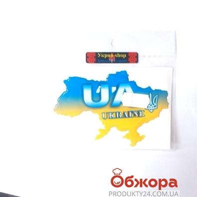 Наклейка Украина, карта Украины – ИМ «Обжора»