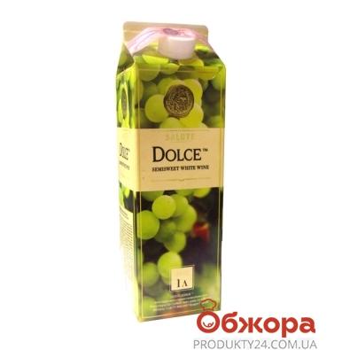 Вино Салюте (Salute) Дольче белое п/сл 1,0 л – ИМ «Обжора»