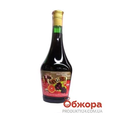Коктейль винный Дон Сангрия (SANGRIA) Десерт красное 0,75 л – ИМ «Обжора»