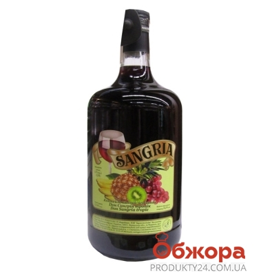 Коктейль винный Сангрия (Sangria) Тропик красный 1,75 л – ИМ «Обжора»