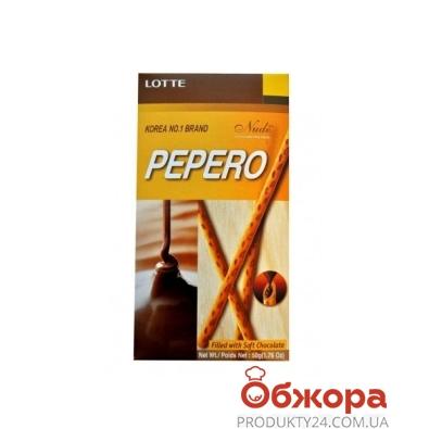 Печенье Лотте Пеперо (Pepero) 50г с шок. начинкой – ИМ «Обжора»
