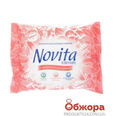 Салфетки влажные Новита (Novita) Intimate Soft 15 шт. – ИМ «Обжора»