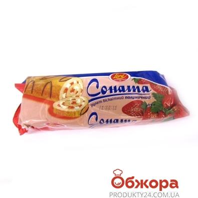 Рулет Соната Клубника 175 г – ИМ «Обжора»