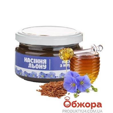 Паста арахисовая Мастер Боб с семенами льна 200 г – ИМ «Обжора»