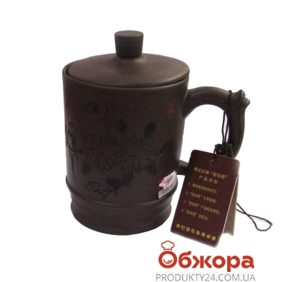 Чашка с крышкой подарочная,глиняная 2032 – ИМ «Обжора»